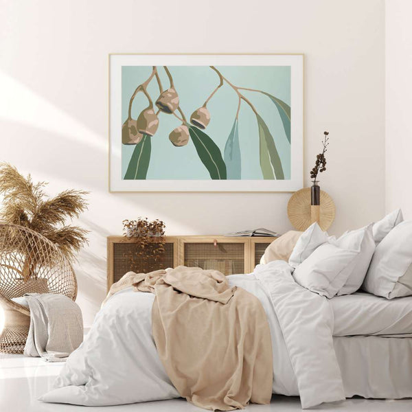 Blue Gum, Native Glory by Kim Haines. Australian Art Prints. Green Door Decor.  www.greendoordecor.com.au