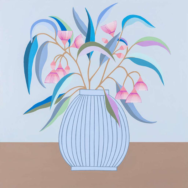 Blue Gum, Blue Vase Print, by Claire Ishino. Australian Art Prints. Green Door Decor. www.greendoordecor.com.au