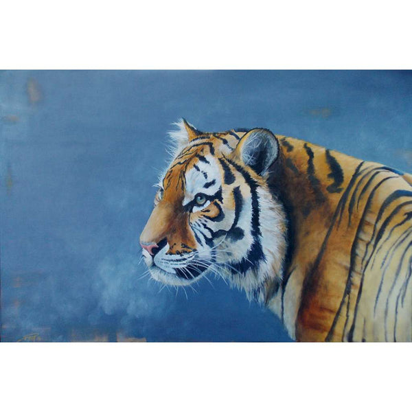 Tiger (Blue) print by Bexart. Australian Art Prints. Green Door Decor. www.greendoordecor.com.au