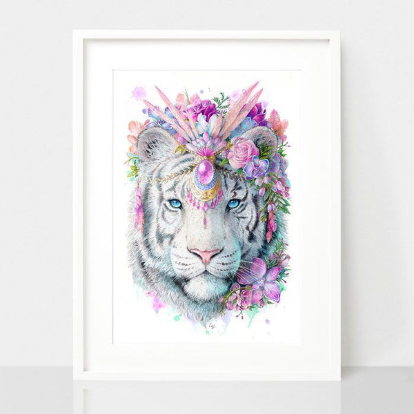 Bohemian Tiger-Spirit Animal Series, by Earthdrawn Studio. Australian Art Prints. Green Door Decor.  www.greendoordecor.com.au