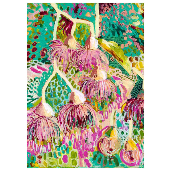 Bush Magic print, by Grotti Lotti. Australian Art Prints. Green Door Decor. www.greendoordecor.com.au
