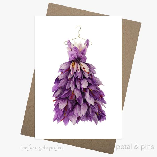 Petal & Pins Card - Saffron Dress