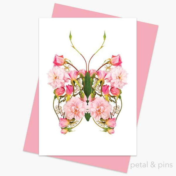 Petal & Pins Card - Butterfly Pearls
