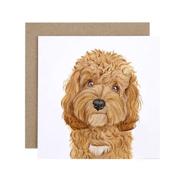 Card Carrie the Cavoodle, by For Me By Dee. Australian Art Prints. Green Door Decor.  www.greendoordecor.com.au