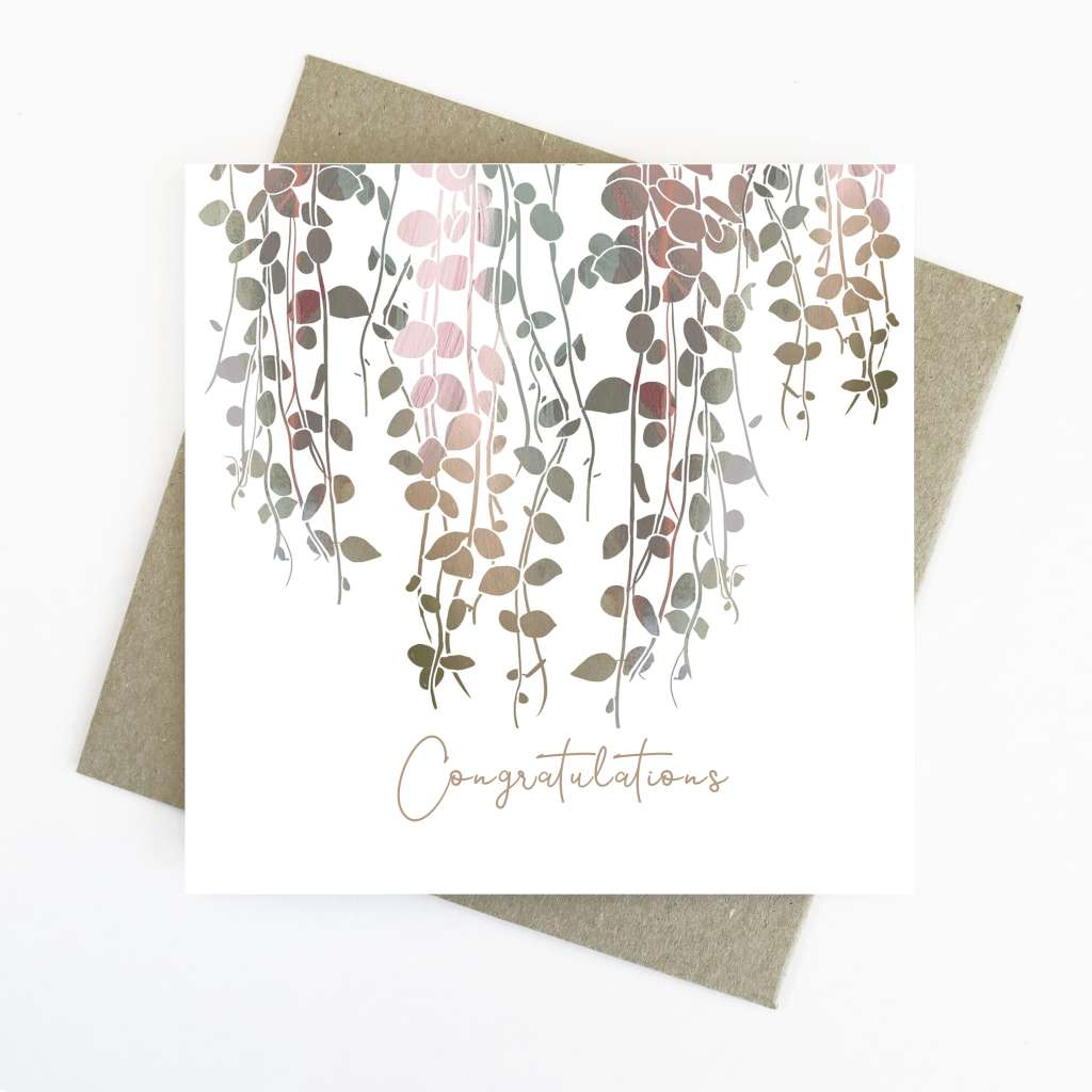 Cassie Zaccardo Wildflower Greeting Card - 'Congratulations'
