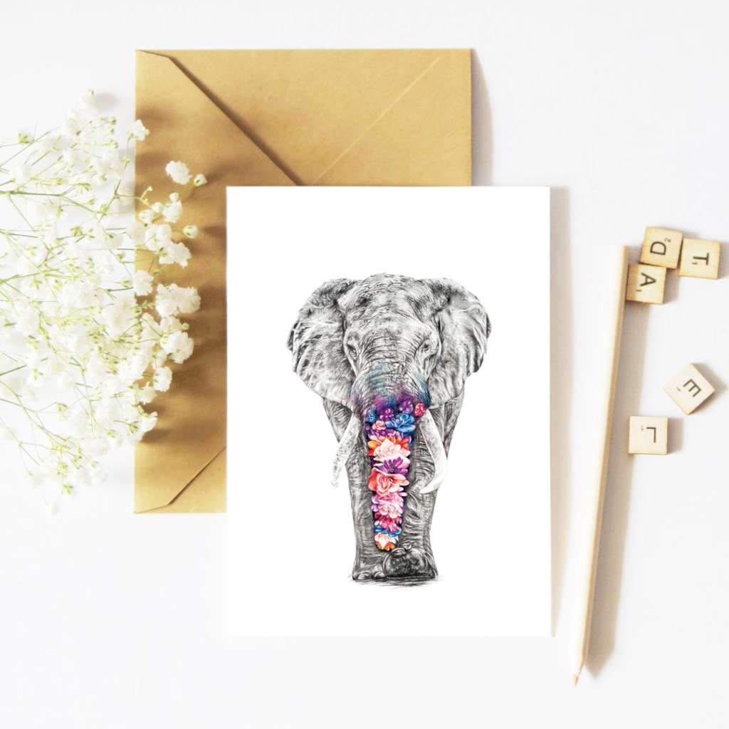 McMurtrie Illustrations Card - Effy the Elephant