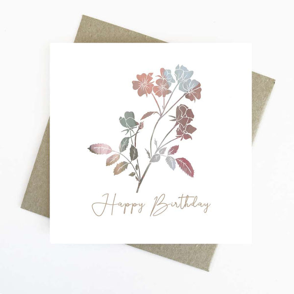 Cassie Zaccardo Wildflower Greeting Card - Happy Birthday