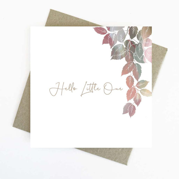 Cassie Zaccardo Wildflower Greeting Card - Hello Little One