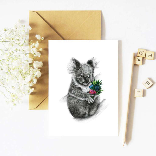 McMurtrie Illustrations Card - Lenny the Koala