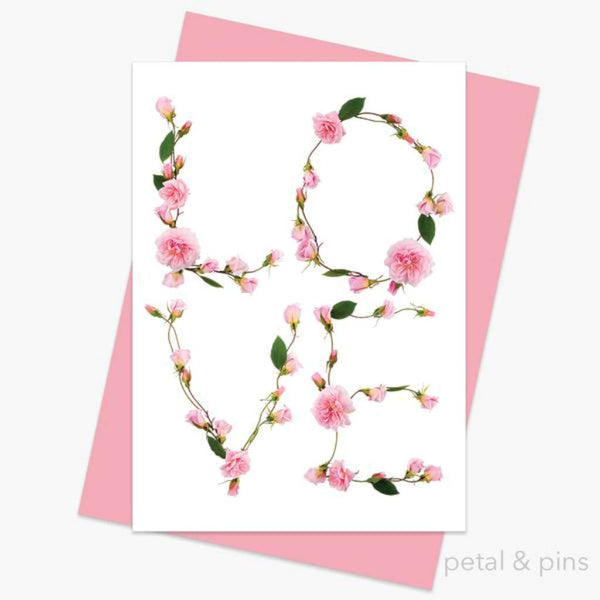 Petal & Pins Card - Love Letters