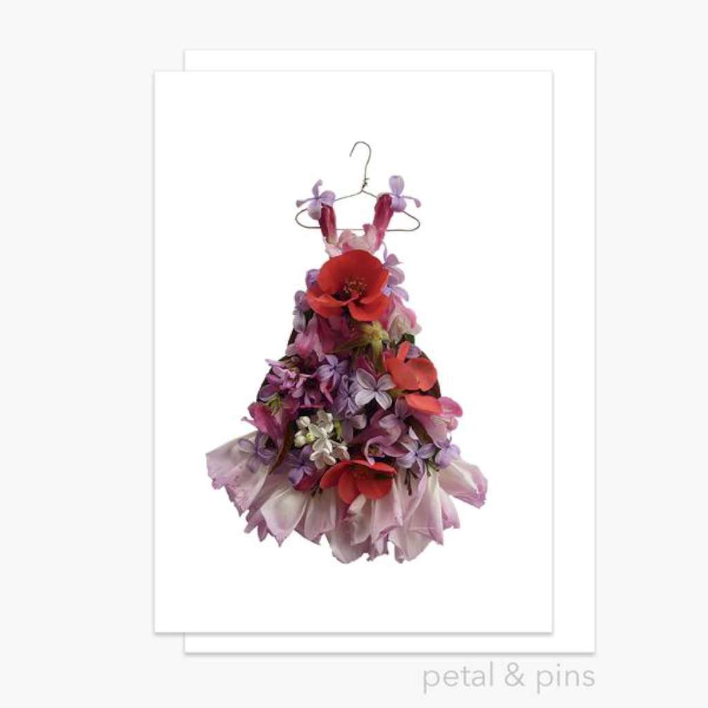 Petal & Pins Card - Patchwork Dress