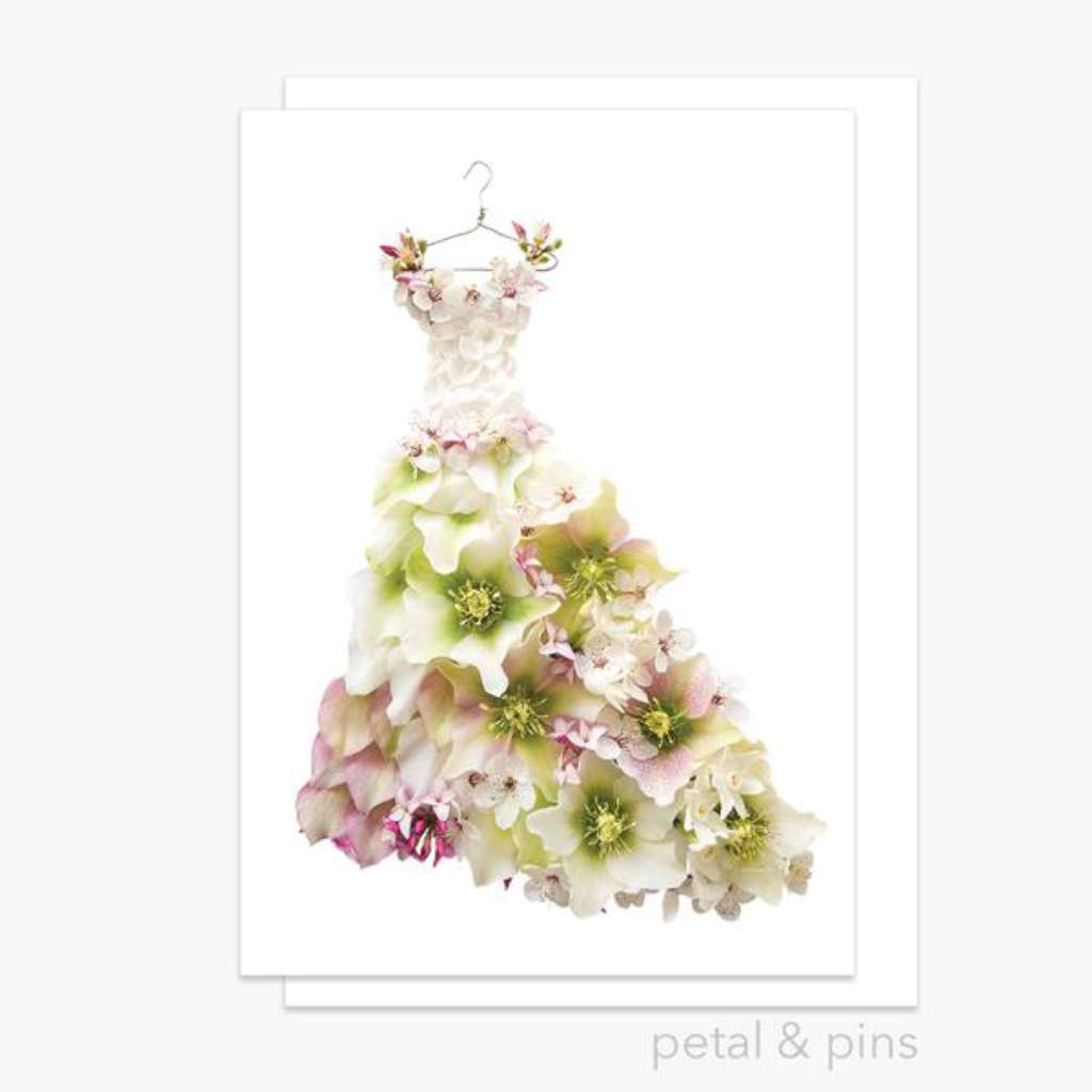 Petal & Pins Card - Springtime Dress