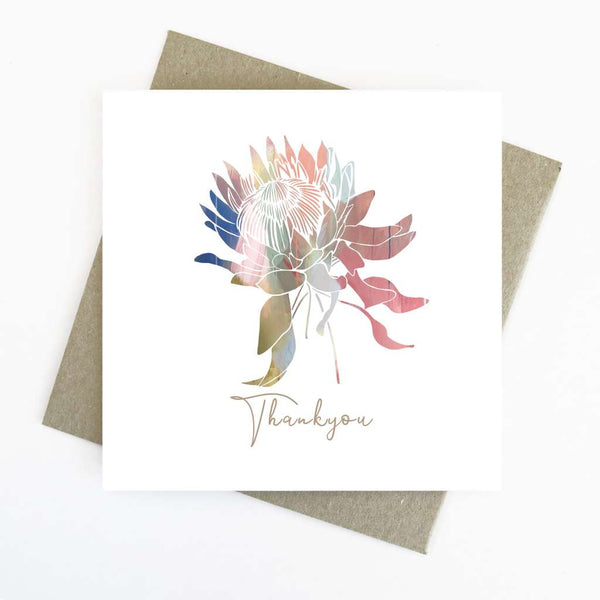 Cassie Zaccardo Wildflower Greeting Card - Thankyou