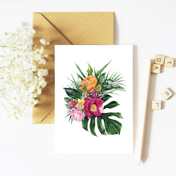 McMurtrie Illustrations Card - Tropical Florals