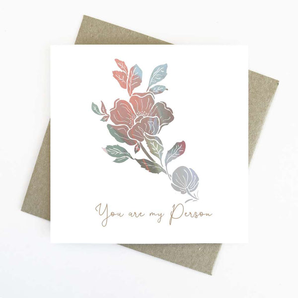 Cassie Zaccardo Wildflower Greeting Card - You Are My Person