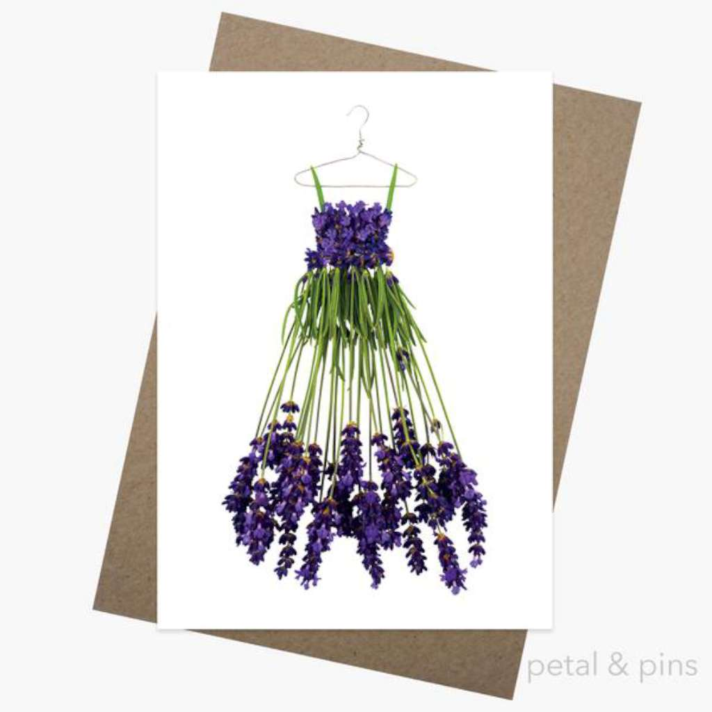 Petal & Pins Card - Campo de Flori Lavender Dress