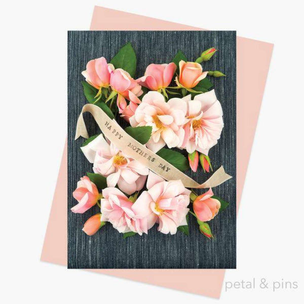 Petal & Pins Card - Mother's Day Roses