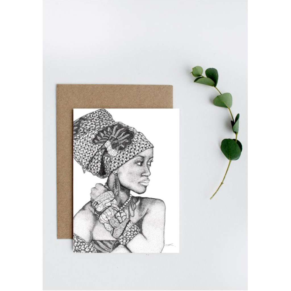 Dots by Donna Card - African Goddess