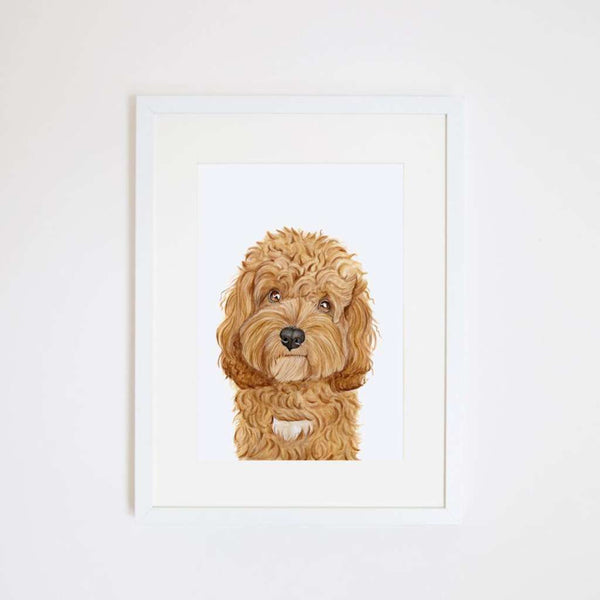 Carrie the Cavoodle, by For Me By Dee. Australian Art Prints. Green Door Decor.  www.greendoordecor.com.au