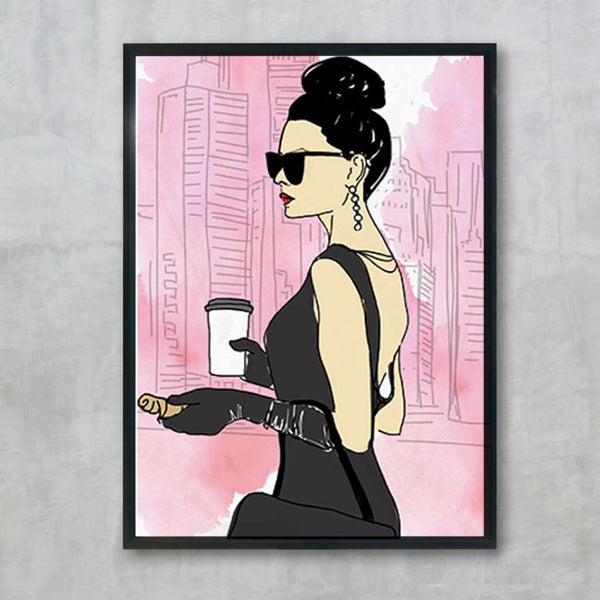 City Girl - Pink, by Skart & Savvy Designs. Australian Art Prints. Green Door Decor.  www.greendoordecor.com.au