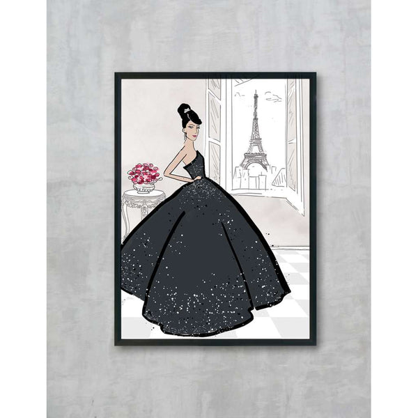 Clara - Black, by Skart & Savvy Designs. Australian Art Prints. Green Door Decor.  www.greendoordecor.com.au