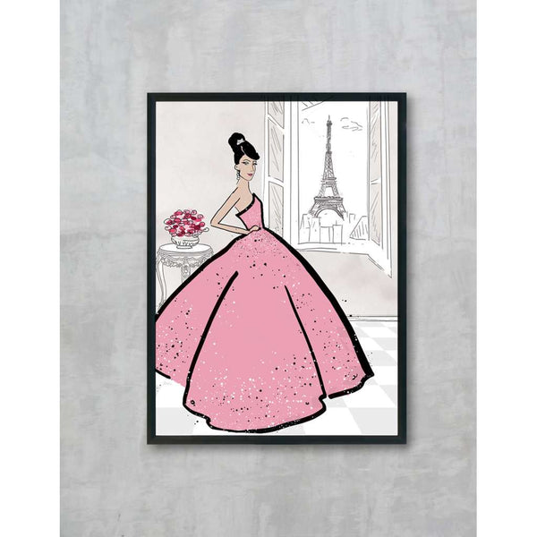 Clara - Pink, by Skart & Savvy Designs. Australian Art Prints. Green Door Decor.  www.greendoordecor.com.au