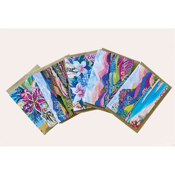 Daniela Fowler Greeting Card 5 Pack - 'Colourful'