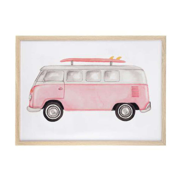 Combi - Pink Print by Sailah Lane. Australian Art Prints. Green Door Decor. www.greendoordecor.com.au