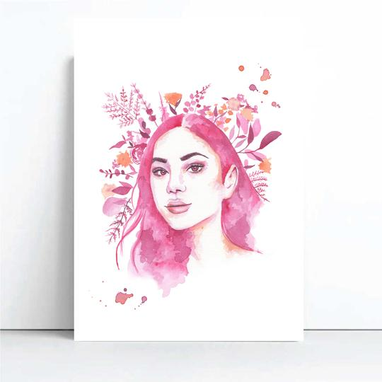 Cora - Watercolour Muse Collection, by Cassie Zaccardo. Australian Art Prints. Green Door Decor. www.greendoordecor.com.au