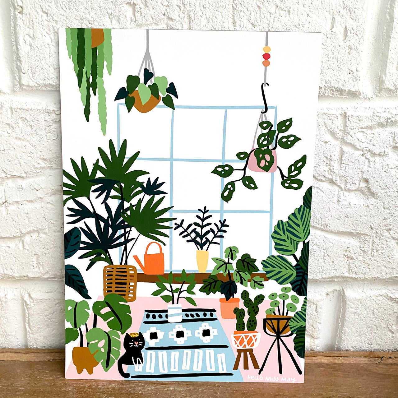 Crazy Plant Lady IV print, by Hello Miss May. Australian Art Prints. Green Door Decor. www.greendoordecor.com.au