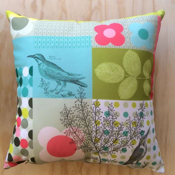 Ellen Giggenbach Cushion (Coloured Bird & Spots)