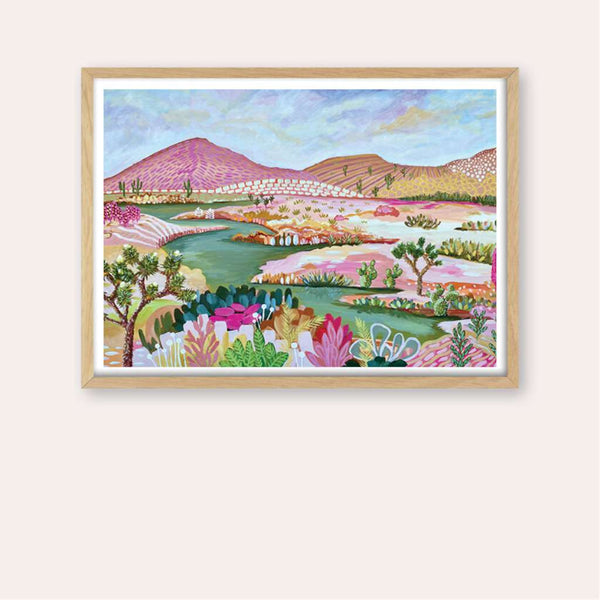 Desert Dreaming Print - framed - by Daniela Fowler Art. Australian Art Prints. Green Door Decor. www.greendoordecor.com.au