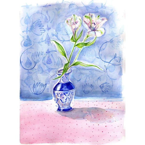 Dotty Vase Blue