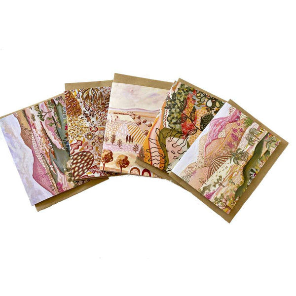 Daniela Fowler Greeting Card 5 Pack - 'Earthy Tones'