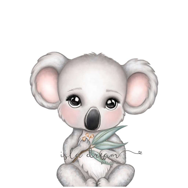 Euca the Koala by Isla Dream, Australian art print, Green Door Decor, greendoordecor.com.au