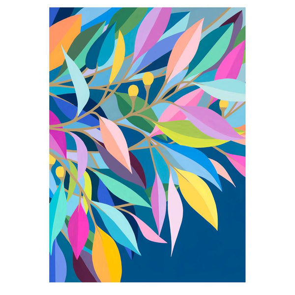 Evening Leaves, by Claire Ishino. Australian Art Prints. Green Door Decor.  www.greendoordecor.com.au