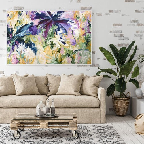 Exotic Breeze print 1, by Amber Gittins. Australian Art Prints. Green Door Decor.  www.greendoordecor.com.au