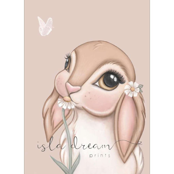 Fawn Bunny - Nude background print, by Sailah Lane. Australian Art Prints. Green Door Decor.  www.greendoordecor.com.au