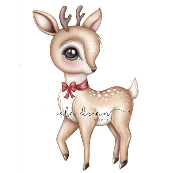 Felicie the Reindeer by Isla Dream, Australian art print, Green Door Decor, greendoordecor.com.au