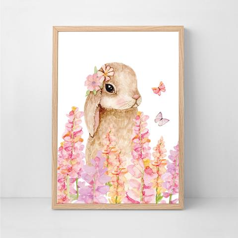 Flopsy bunny 1, by Sailah Lane. Australian Art Prints. Green Door Decor.  www.greendoordecor.com.au
