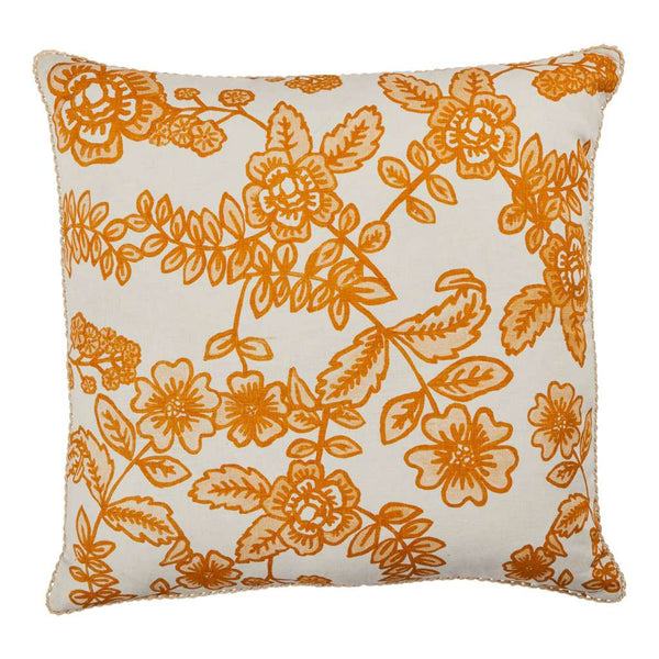 Flora Saffron Cushion. Australian Art Prints and Homewares. Green Door Decor. www.greendoordecor.com.au