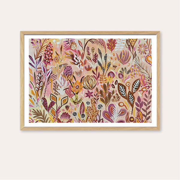 Floral Candy Print by Daniela Fowler Art. Australian Art Prints and Homewares. Green Door Decor. www.greendoordecor.com.au