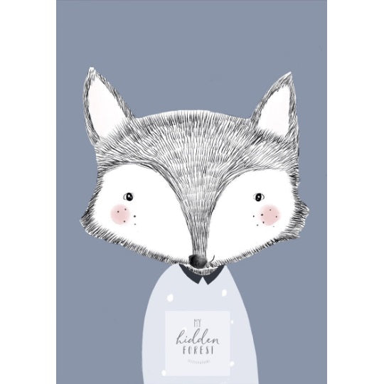 Freddy the Fox print, by My Hidden Forest. Australian Art Prints. Green Door Decor.  www.greendoordecor.com.au