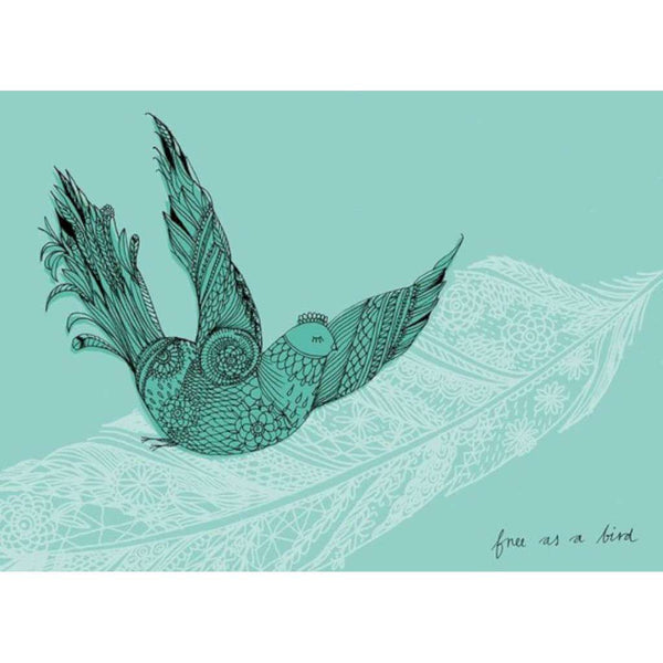 Free as a Bird in Jade Blue