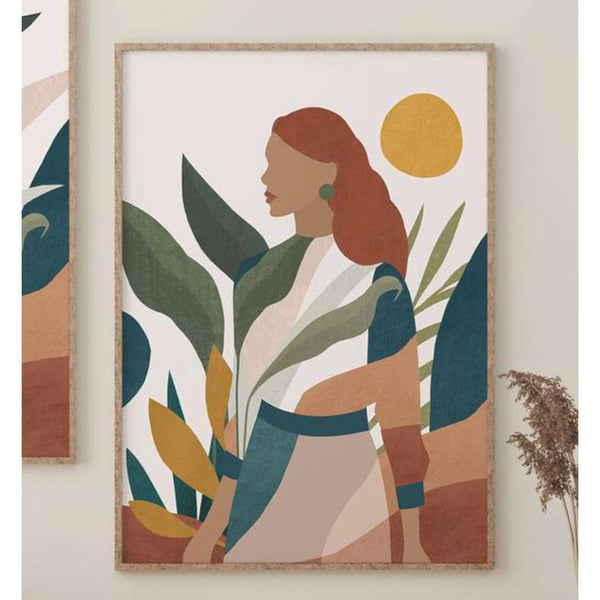 Girl Greenery Abstract print, by Lamai Anne. Australian Art Prints. Green Door Decor. www.greendoordecor.com.au