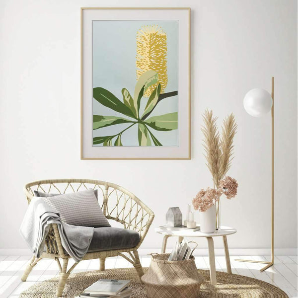 Coastal Banksia, Native Glory by Kim Haines. Australian Art Prints. Green Door Decor.  www.greendoordecor.com.au