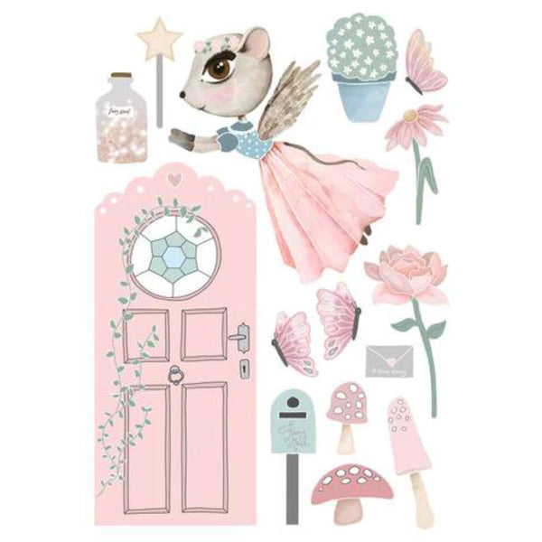 Wall Decals - Fairy Door Set - Tillie | Green Door Decor | Art Prints | greendoordecor.com.au