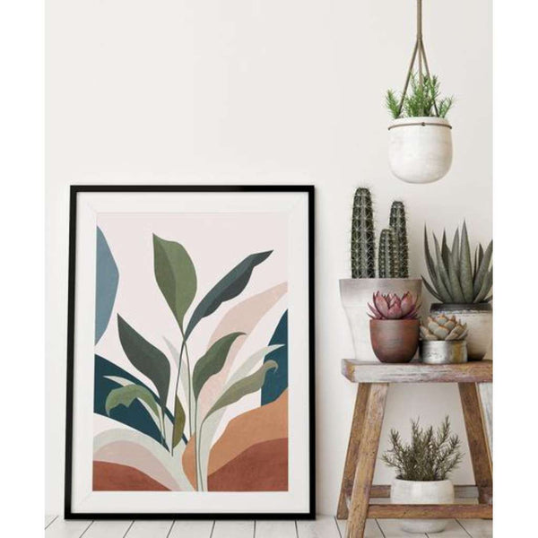 Greenery Abstract print, by Lamai Anne. Australian Art Prints. Green Door Decor. www.greendoordecor.com.au