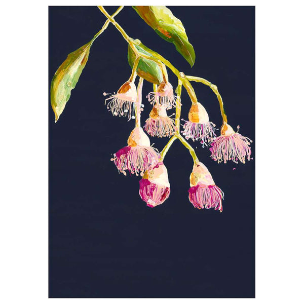Grotti Flowering Gums by Grotti Lotti. Australian Art Prints. Green Door Decor.  www.greendoordecor.com.au