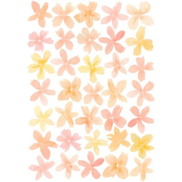 Wall Stickers - Happy Flowers Sorbet, by Sailah Lane. Australian Art Prints and Homewares. Green Door Decor. www.greendoordecor.com.au
